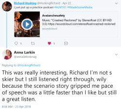 Richard Hosking Reply