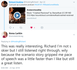 Richard Hosking Reply